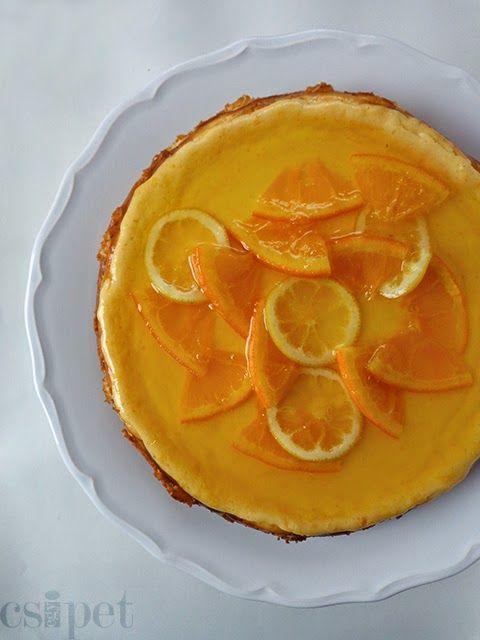 egycsipet: Citrusos sajttorta