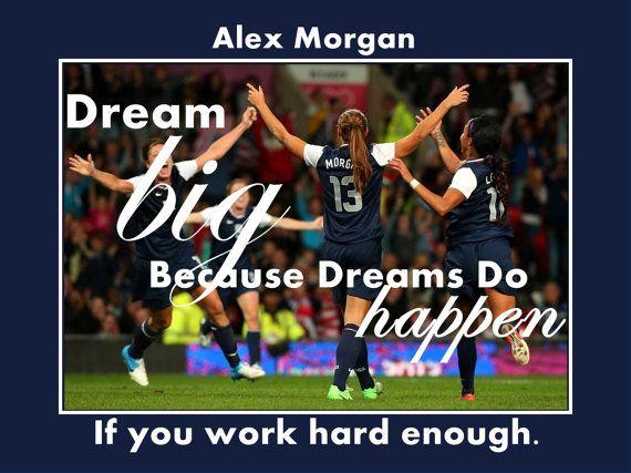 Soccer Poster Alex Morgan Photo Quote Wall Art by ArleyArt on Etsy