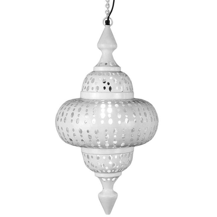 Lampara de Techo Arabe Calcuta Blanca - 50cm  lámparas  Pinterest