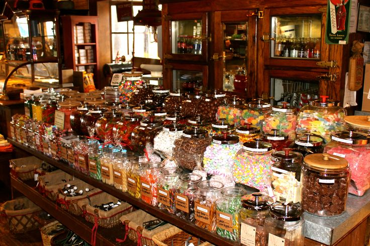 The old fashioned candy counter in the Weir's Country Store offers a selection of classic favorites #sweettooth