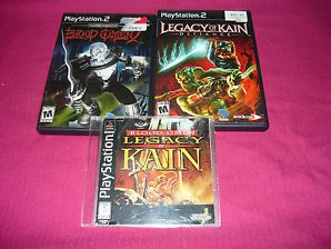 Blood Omen & Omen 2 & Legacy of Kain Defiance Playstation 2 PS2 PS1 PS3 TESTED #ps2 #psx #psn #playstation #legacyofkain #bloodomen #ps3 #retrogames #ebaydeals #freeshipping #martharoses99