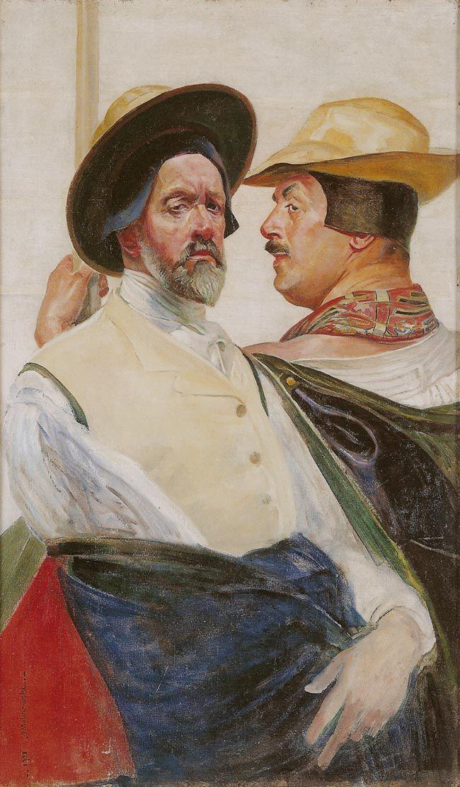 Jacek Malczewski - Self-portrait (1921) with Mieczyslaw Gąseckim #2
