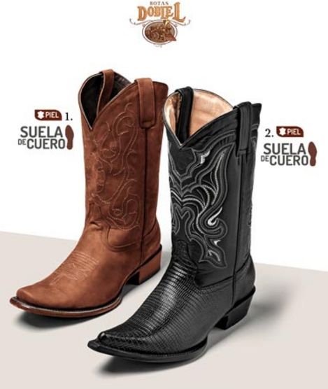 Botas Doble L. Botas vaqueras de moda, botas de vaquero, botas suela de cuero, Botas de hombre, botas de pakar. Venta por catalogo