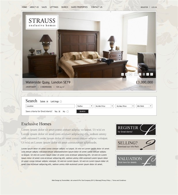 Professional Property Website Design Gallery, TECHNICWEB© Ltd
