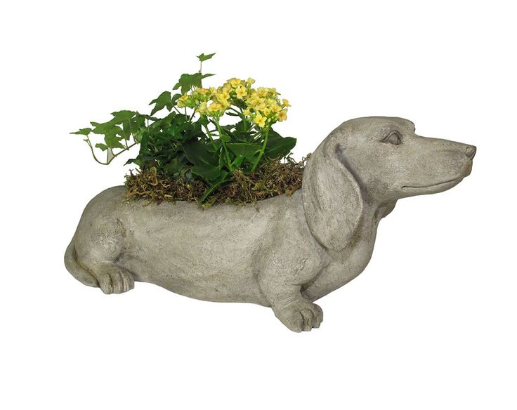 Adorbale Dachshund Dog Planter - Horchow Neiman Marcus - indoor outdoor