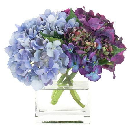 Faux hydrangea arrangement from natural decorations inc for Nfpa 72 99 table 7 3 1
