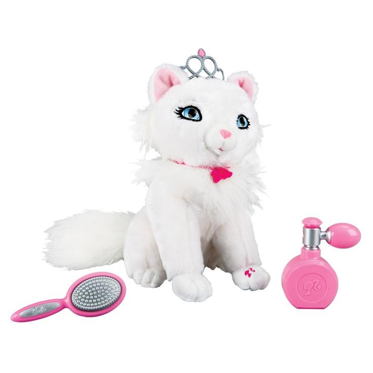 Barbie'nin minik dostları çok sevimli…Prenses kedi Blissa! Süslü  olmaya ve parfümünü sıkmaya bayılıyor… Barbie'nin köpekleri ve kedisi Toyzz Shop oyuncak mağazalarında...
