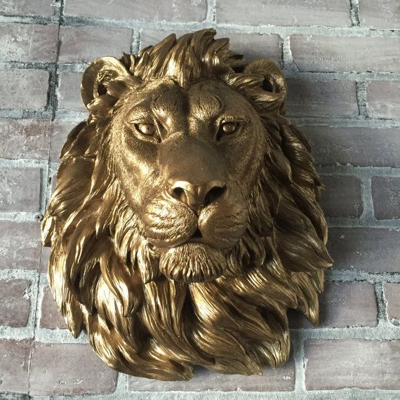 Any Color Or Bronze Large African Lion Head Wall Mount