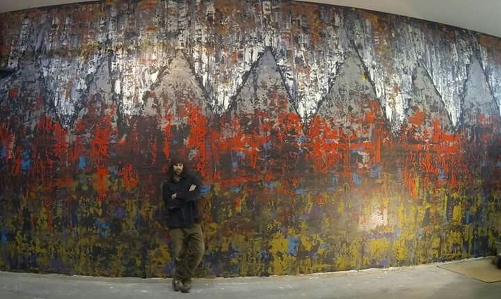 Title: Tibet.  Large abstract painting by Robert Martin abstracts
