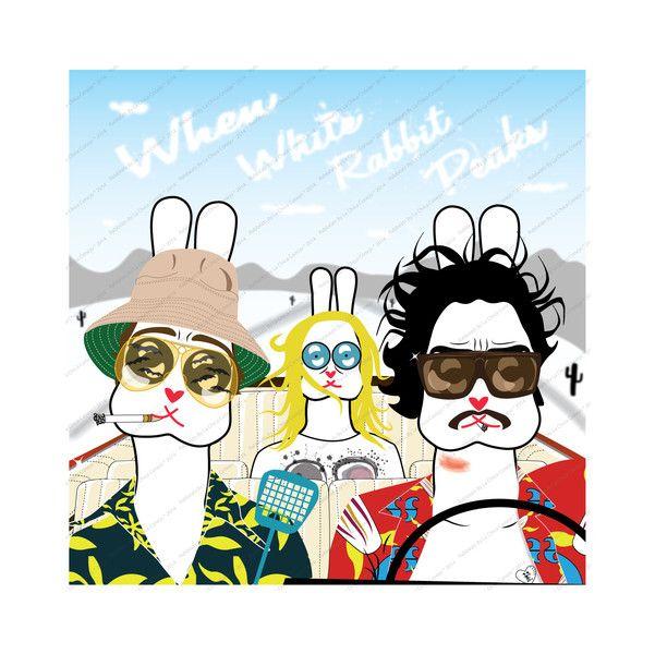 """Serie """"Road To Nowhere"""", Ilustración Digital* de Rabbëats by la chica conejo* por DaWanda.com"""