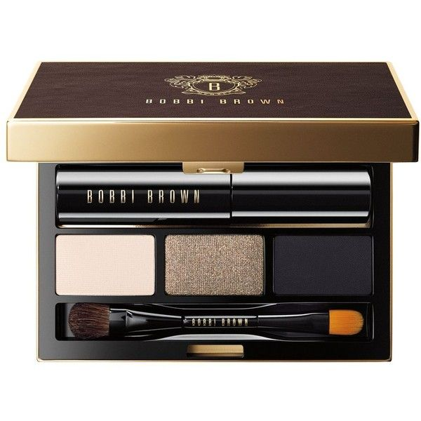 Bobbi Brown Golden Eye Palette found on Polyvore featuring beauty products, makeup, eye makeup, eyeshadow, no color, eyeshadow brushes, bobbi brown cosmetics, shadow brush, eye shadow brush and palette eyeshadow
