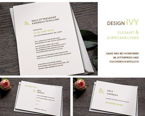 Honeybird Einladungskarten Hochzeit Ivy