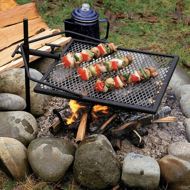 Adjust-a-Grill Portable Campfire Swivel Grill - For Grilling While Camping | CHKadels.com | Survival & Camping Gear