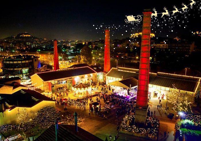 Situated at the Technopolis City of Athens, The Christmas Factory offers a celebrative decorated-in-the Christmas spirit venue for corporate and social events that may be booked from a minimum 30-people sized party, hosted by #ARIAFineCatering! See more at: http://xmas.aria.gr/