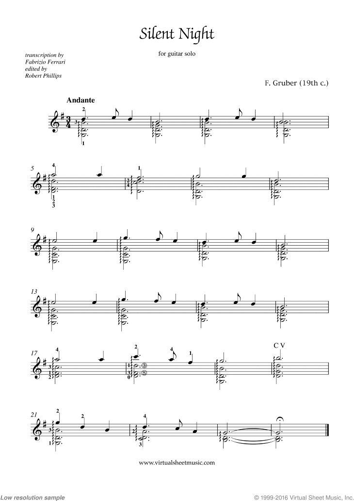 silent night piano sheet music pdf