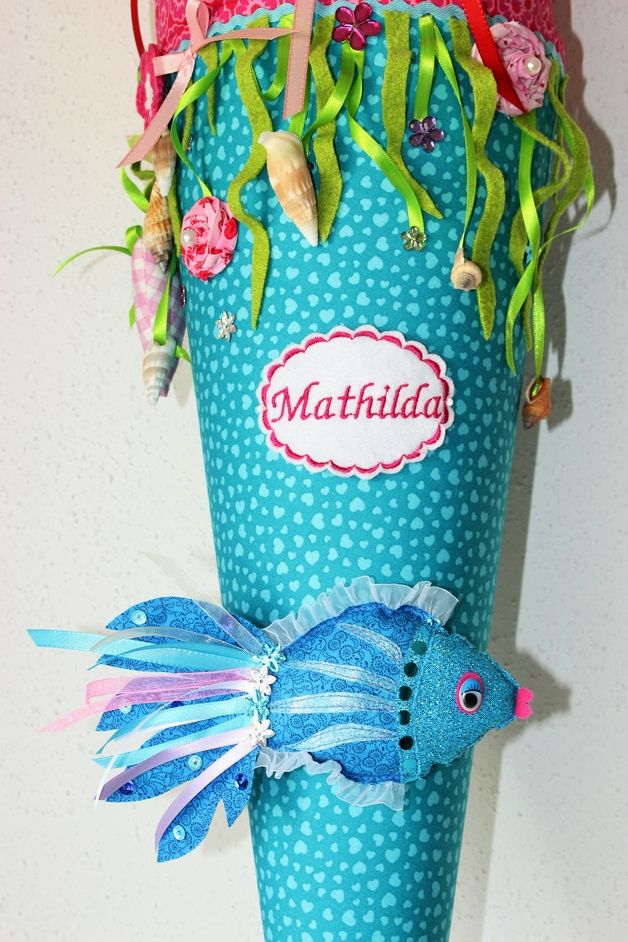"""Schultüten - Schultüte, """"Fisch"""", Zuckertüte - ein Designerstück von Anastasiyas-Stoffmaerchen bei DaWanda"""