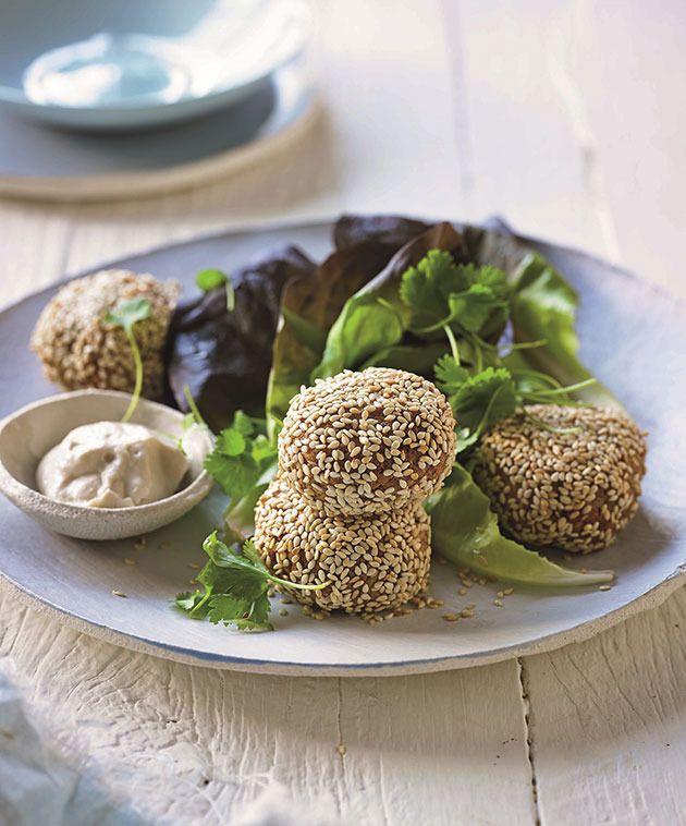 Sunflower seed falafel balls. Photo: Lee Holmes