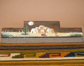 This Is A Rustic Hand Carved Western Tapestry Hanger Wall Rack, Adorned  With A Hand