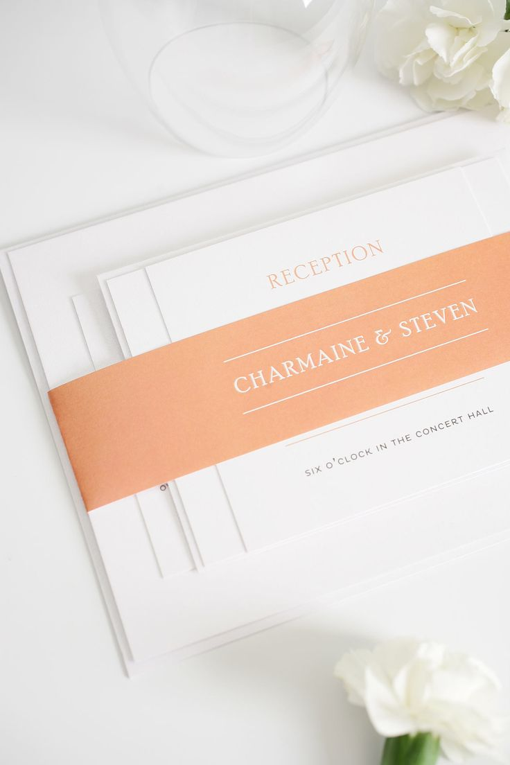 Elegant Wedding Invitations in Peach 432 best