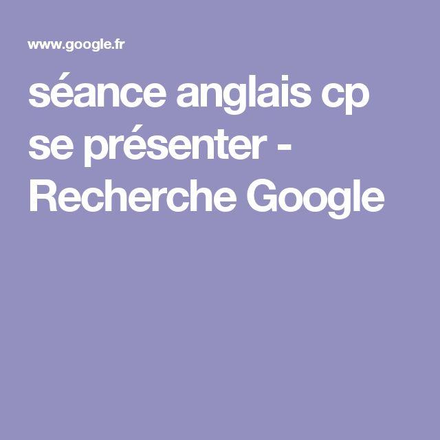 séance anglais cp se présenter - Recherche Google