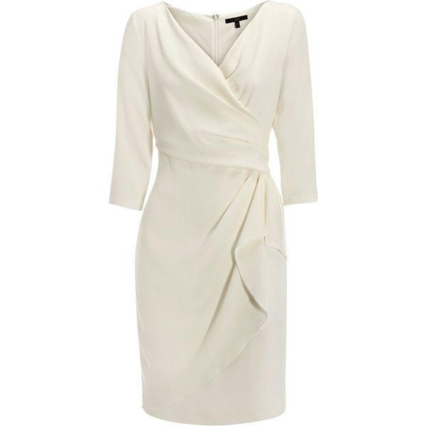 Coast Enna Sleeved Dress (2 540 UAH) ❤ liked on Polyvore featuring dresses, coast, 3/4 sleeve dress, coast dresses, wrap dress, sleeve wrap dress and three quarter sleeve dresses