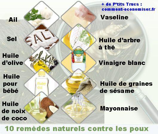 Les 10 Meilleurs Remèdes Naturels Contre les Poux. ça va être d'actualité !!! mais à la mayonnaise, ... hum ! par contre l'idée à l'huile de coco me plait bien