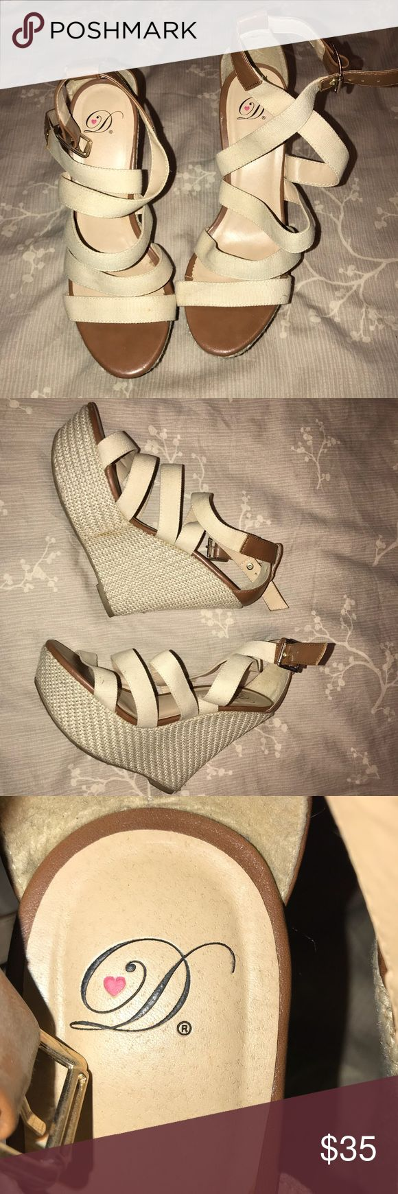 Cream Wedges Cream wedges. Size 9. Like new.   ————  🚭All items are from a smoke free home.  ☝🏼 Item is as described, feel free to ask questions.  📦 I am a fast shipper.  💰I love bundles and discounts. Feel free to make an offer.  😍Love this item? Shop my closet! 💖 Thanks for shopping! Wild Diva Shoes Wedges