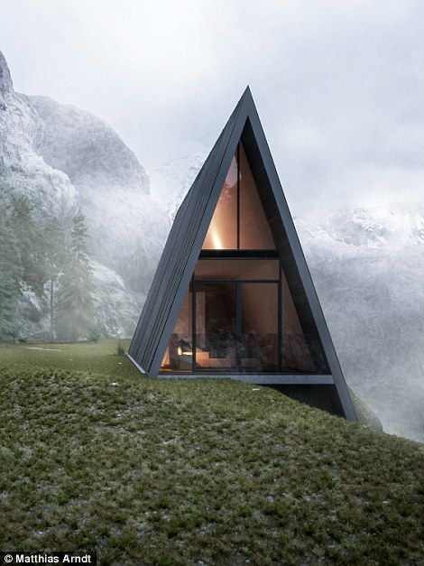 The unusual house is situated on the edge of a fictional cliff...