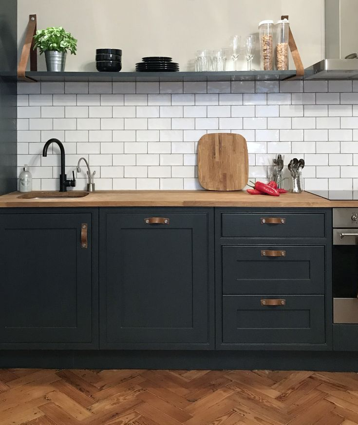 Farrow and Ball Off Black kitchen units