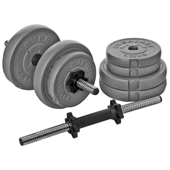 6fac30906d6 Everlast EV-1102 Dumbbell Set 15kg ~~~   Fully interchangeable weights for  an individual workout   Tone abs