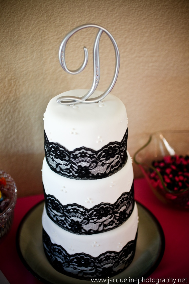 Best Images About Black Lace Wedding Cake Cupcakes On Red Paper And Pearls