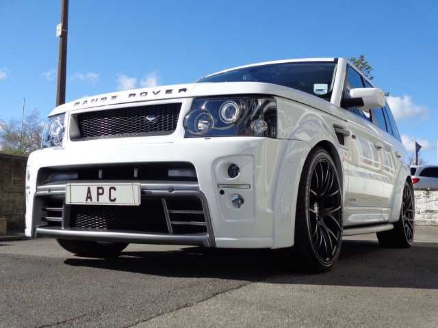 2007 Range Rover Sport 2.7 TDV6 Sport. AP Customs Stage 4. Fuji White. Quilted black interior with red stitching.