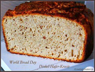 auchwas: World Bread Day: Dinkel-Hafer-Kruste aus dem Gusstopf