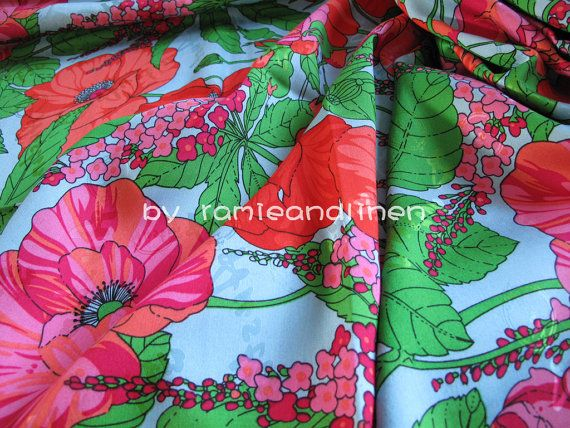 silk fabric gorgeous floral print silk cotton by