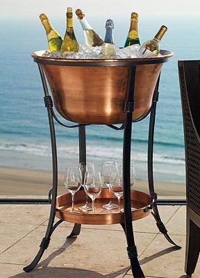 Beautiful Copper Beverage Tub.