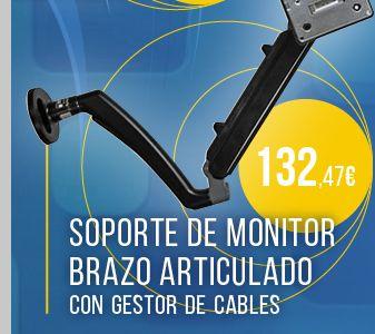Brazo #soporte articulado con gestión de cables para monitor. http://www.opirata.com/es/brazo-soporte-articulado-gestion-cables-para-monitor-p-35126.html