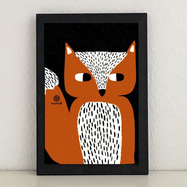 Illustrationen - Fuchs Bild Illustration Kunstdruck Grafik modern - ein Designerstück von miameideblog bei DaWanda