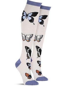4c96c48337e Butterfly Study Colorful Novelty Animal Socks for Women in Frost ...