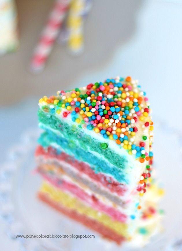 PANEDOLCEALCIOCCOLATO: Rainbow Cake e i miei sette colori dell' Arcobaleno