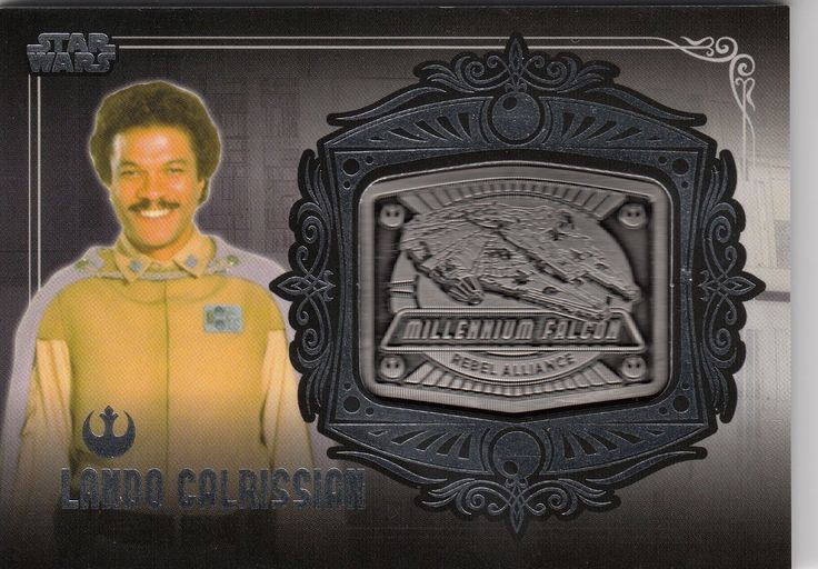 2013 Star Wars Galactic Files Series 2 Medallion Card MD-5 Lando Millennium