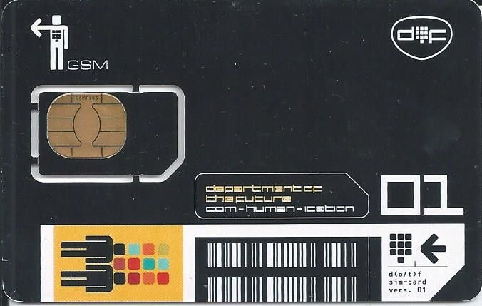 Phonecard: Department of Future 01 (Mobile Sweden, Sweden) (Telia (Mobile SIM cards))
