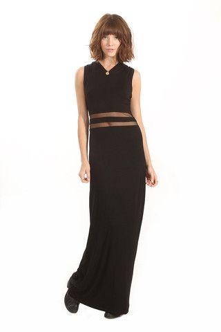 Black Peek Maxi Dress
