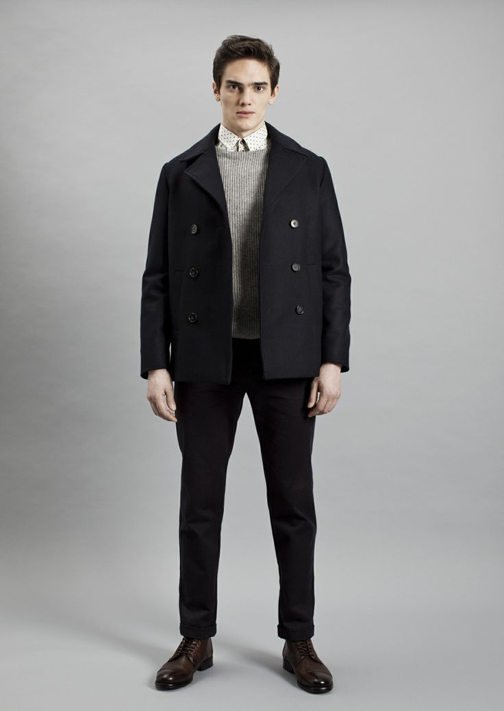 Tela Shirt, Rib Sweater, Smith Coat and Dalek Trousers | Samuji Men Fall Winter 2014 Collection