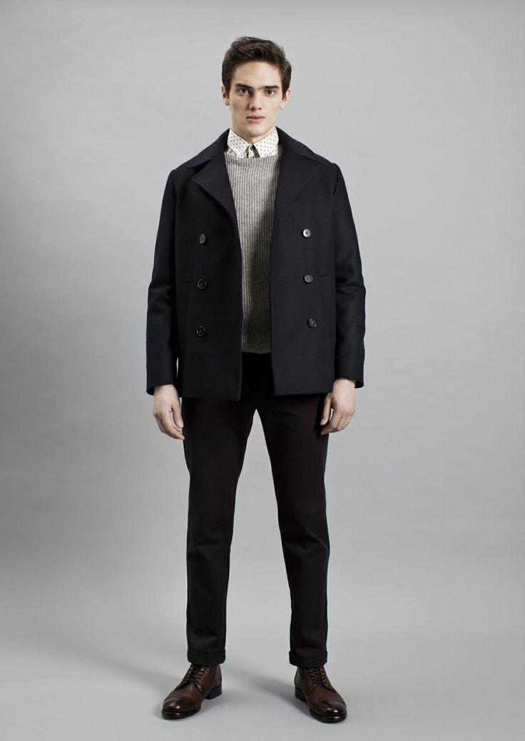 Tela Shirt, Rib Sweater, Smith Coat and Dalek Trousers | Samuji Men Fall Winter 2014 Collection