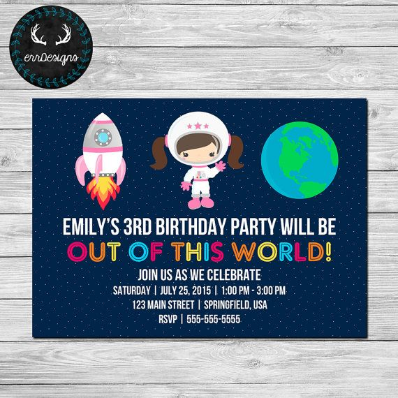 38 best Space Invitation images – Space Party Invitations