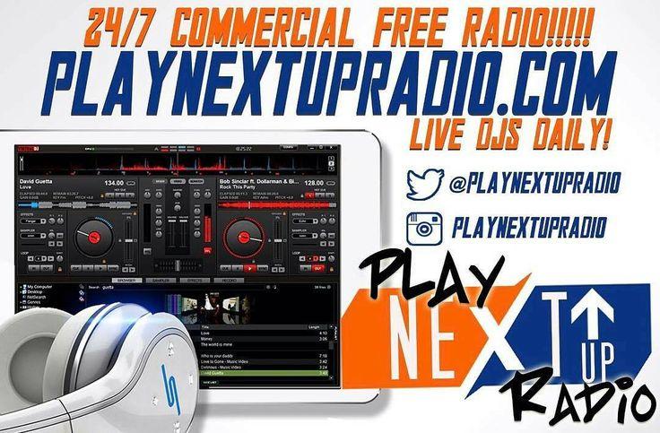 Go Follow @playnextupradio and listen on your web browser via Computer or Mobile Phone www.playnextupradio.com #DjRizzoGates #Hosting #Branding #Marketing #Radio #Mixtapes #Spinrilla #MyMixtapez #Datpiff #SoundCloud #DMV #chicago #atl #promo