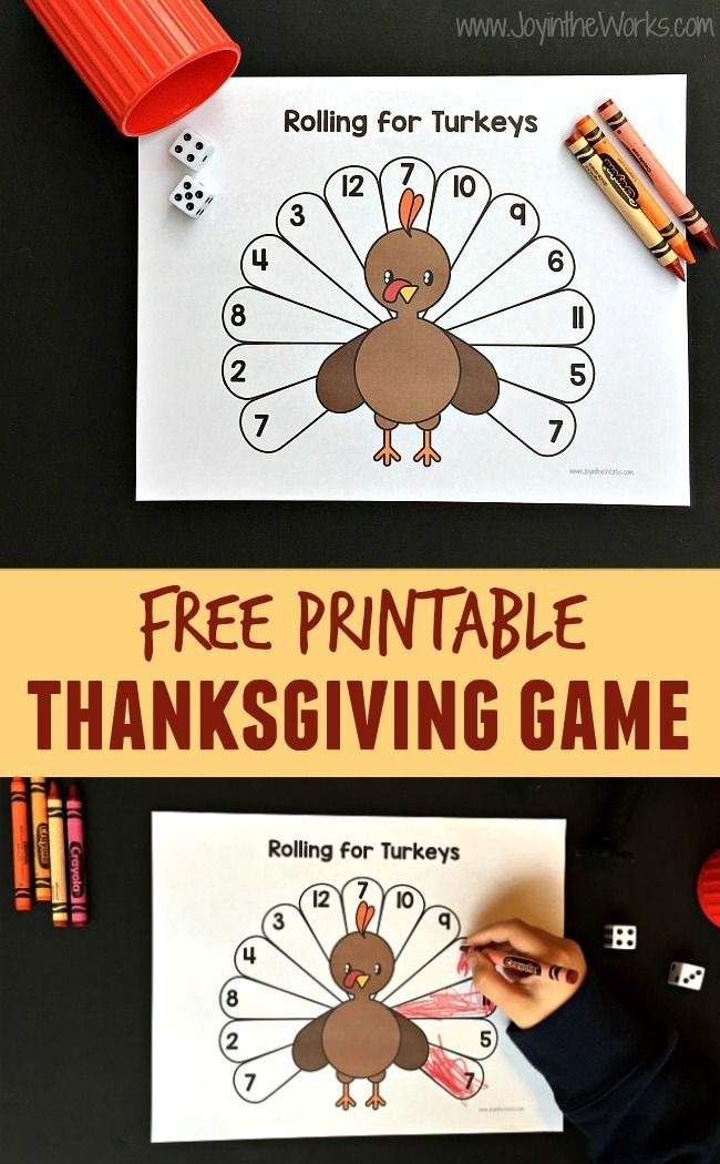 image about Free Printable Thanksgiving Games called Rolling for Turkeys: A Printable Thanksgiving Recreation