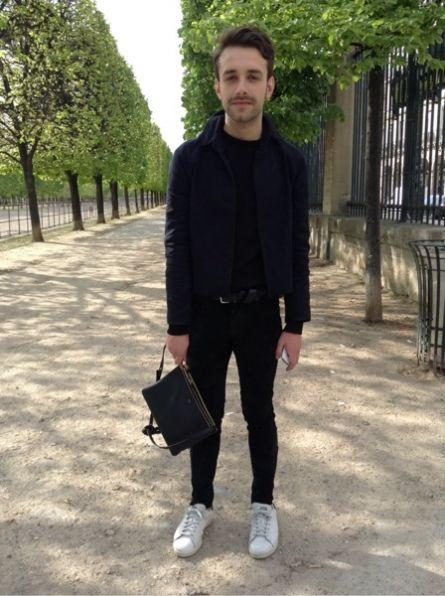 # HOMEMADE-DIY # Veste - CELINE Pochette, minaudiere - ALEXANDER WANG Jean -  ADIDAS Baskets, sneakers #men #mode #look #streetstyle  http://moodlook.com/look/2014-04-08-france-paris-12