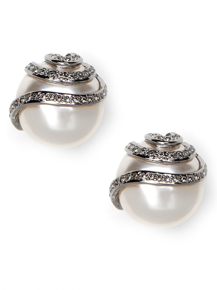 $126: Statement Pearls, Bauble Bar, Pearl Studs, Diamonds Pearls, Pretty Things, Studs 126, Baublebar, Metro Pearl