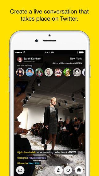 meerkat-app Meerkat is an iOS app that lets you live-stream video to your friends on Twitter